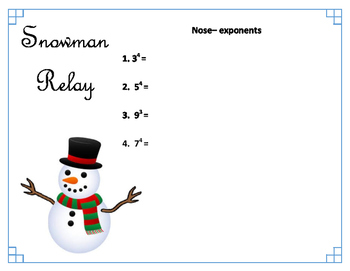 Snowman Relay (Review Game)