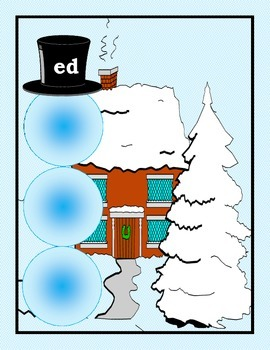 Snowman Rhyme Sort for Autism