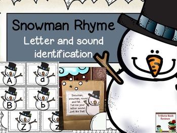 Snowman Rhyme and Alphabet Cards