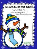 Snowman Rhymes (create/produce rhymes)