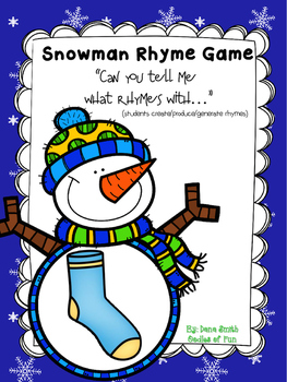 Snowman Rhymes (create/produce rhymes)