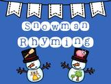 Snowman Rhyming