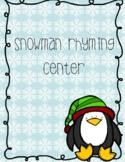 Snowman Rhyming Center