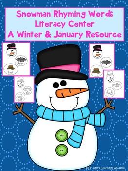 Winter Snowman Literacy Center- A January & Winter Resource