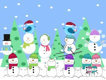Snowman Rhythms - A Game for Practicing Ta and Ti-Ti and So, Mi and La