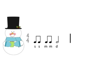 Snowman Rhythms - A Game for Practicing Ta,Ti-Ti, Z, Ta-a and So, Mi, La and Do