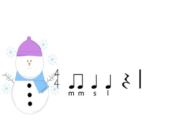 Snowman Rhythms - A Game for Practicing Ta,Ti-Ti and Z and  So, Mi and La