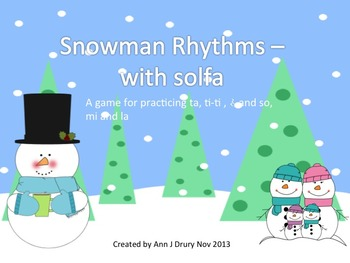 Snowman Rhythms - A Game for Practicing Ta,Ti-Ti and Z and