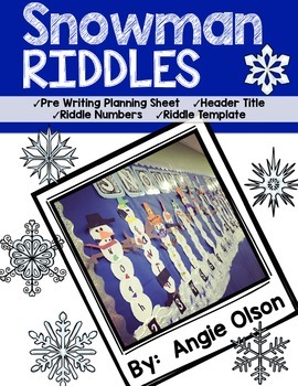 Snowman Riddles Craftivity & Writing Templates