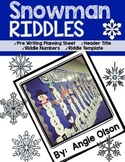 Snowman Riddles Craftivity & Writing Templates