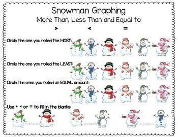 Snowman Roll & Graph Activity