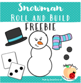 Snowman Roll and Build Winter Activity - FREEBIE