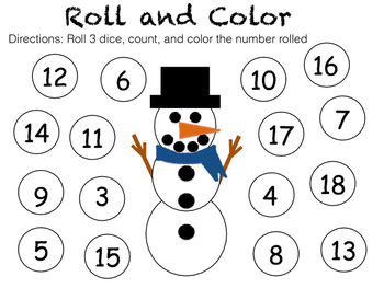 Snowman Roll and Color