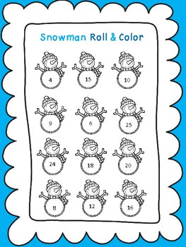 Snowman Roll and Color Multiplication Game