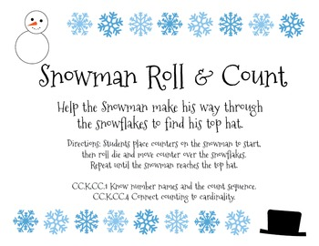 Snowman Roll and Count
