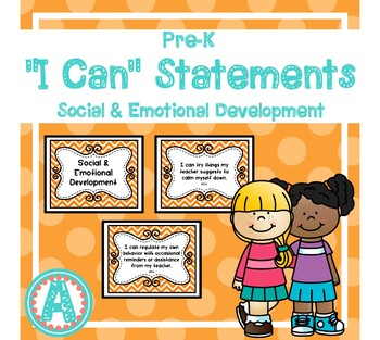 """Social/Emotional """"I Can"""" Statements for Pre-K and Preschool"""