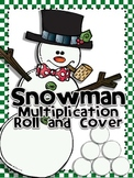 Snowman Roll and Cover for Multiplication Center Activity