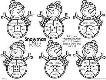 Snowman Roll {freebie!!}