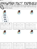 Snowman Roll the Dice Multiplication Fact Families