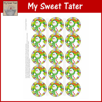 Snowman Round Gift Tags
