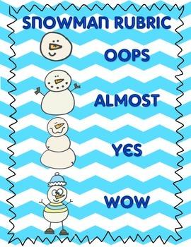 Snowman Rubric *FREE*