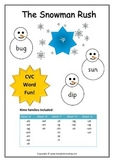 Snowman Rush CVC word game