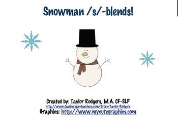 Snowman S-Blend Articulation Activity