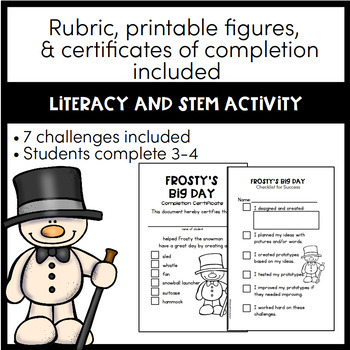Snowman STEM Activites - Frosty the Snowman Winter STEM