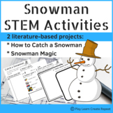 Snowman STEM Activities with Student Booklet, Winter STEM