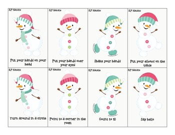 Snowman Says: A Direction Following Activity