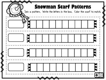 Snowman Scarf PATTERNS