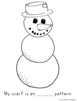 Snowman Scarf Pattern Activity