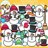 Snowman Scavenger Hunt Clip Art