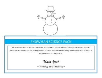 Snowman Science Pack