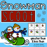 Snowman Scoot! {greater & less than}