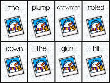 Snowman Selfie Sentences | Writing Activity