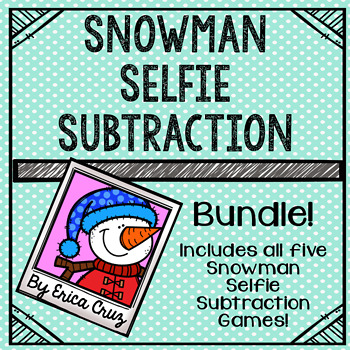 Subtraction Math Center or Game  Bundle