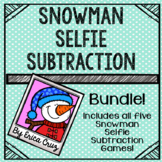 Subtraction Math Center or Game  Bundle