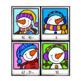 Snowman Selfie Subtraction Two-Digit Numbers