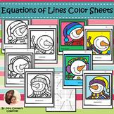 Snowman Selfies Equations of Lines Color Sheets