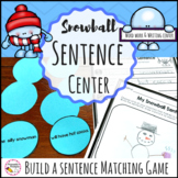 Kindergarten and First Grade Sentence Building Winter Word Work Center