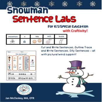 Snowman Sentence Lab and Activities  for Special Education