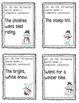 Snowman Sentence Scoot