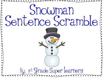 Snowman Sentence Scramble