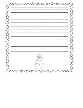 Snowman Sentence Writing Craftivity (Winter) - Common Core Aligned