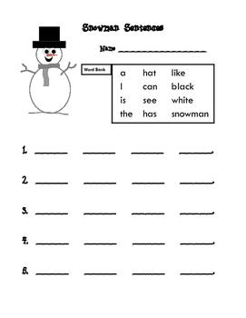Snowman Sentences