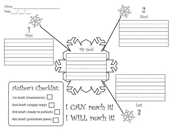Snowman Sequence (Goal Writing)