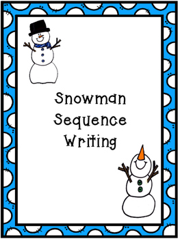 Snowman Sequence Writing