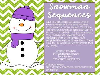 Snowman Sequences