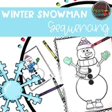 Winter Therapy Activities: Snowman Sequencing